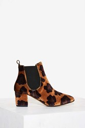Spot In Mind Velvet Ankle Boot Animal