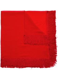 Spacenk Nk Silk Scarf Red