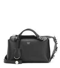 Fendi By The Way Mini Embellished Leather Shoulder Bag Black