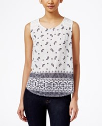 Styleandco. Style And Co. Petite Sleeveless Printed Blouse Only At Macy's Boho Paisley