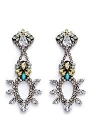 Anton Heunis Swarovski Crystal Chandelier Earrings Multi Colour