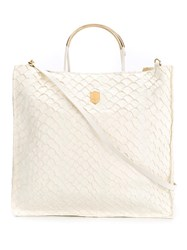 Osklen Leather Tote Bag Women Fisher One Size Nude Neutrals