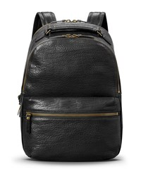 Shinola Runwell Bison Leather Backpack Black