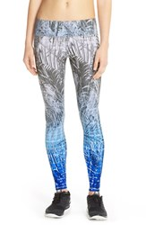 Women's Pink Lotus 'Orientate' Ombre Print Leggings