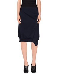 Jil Sander Skirts Knee Length Skirts Women Dark Blue