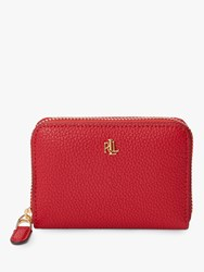 Ralph Lauren Elmswood Leather Zip Around Purse Red