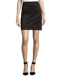 Laundry By Shelli Segal Embossed Scuba Pencil Skirt Black