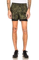 Satisfy Short Distance 3 Shorts In Green Abstract Green Abstract