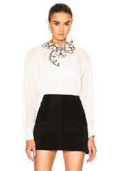 See By Chloe Sheer Button Up Top In White