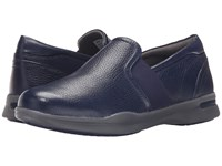 Softwalk Vantage 3.5 Navy Nappa Tumbled Leather 2 Women's Shoes Blue