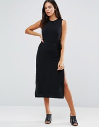 Wal G Midi Dress Black