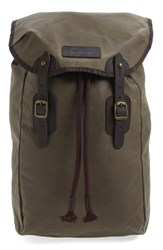Barbour Men's Waxed Canvas Backpack Metallic Stone