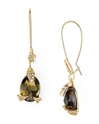 Alexis Bittar Crystal Mosaic Stone Drop Earrings Gold Green