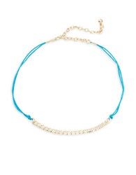 Design Lab Lord And Taylor Double Corded Chain Accented Collar Necklace Multi