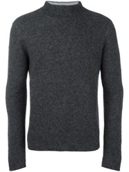 Emporio Armani High Neck Jumper Grey