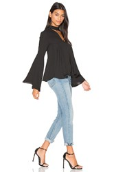 Endless Rose Keyhole Blouse Black