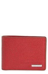 Boss 'S 'Signature' Bifold Wallet Red Bright Red