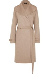 Joseph Lima Belted Wool And Cashmere Blend Coat Beige