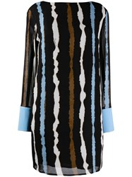 Class Roberto Cavalli Striped Shift Dress Black