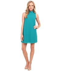 Kensie Crepe Chiffon Dress Ks9k7661 Deep Teal Women's Dress Green