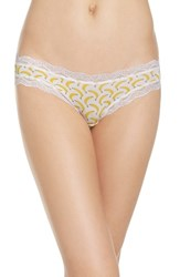Cheekfrills Women's Lace Trim Bikini Banana
