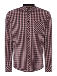 Merc Roswell Multi Checked Classic Collar Shirt Black
