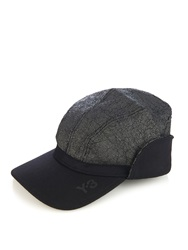 Y 3 Cracked Effect Wool Blend Cap