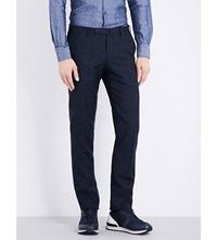 Slowear Birdseye Slim Fit Woven Trousers Blue