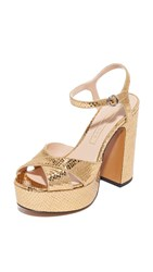 Marc Jacobs Lust Platform Sandals Gold