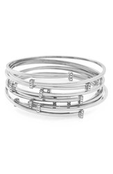 Women's Vince Camuto Stacking Bangles Silver Set Of 7