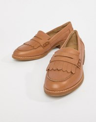 Aldo Leather Loafers Tan