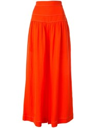 Ginger And Smart Contrast Stitching Wide Leg Trousers 60