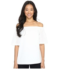 Calvin Klein Off The Shoulder Top Soft White Women's Clothing