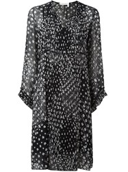See By Chloe Floral Print Shift Dress Black