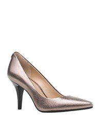 Michael Michael Kors Metallic Leather Pumps Gunmetal