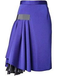 Kolor Ruffle Detail Skirt Blue