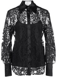 Marchesa Embroidered Lace Shirt 60