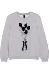 Mother Of Pearl Berg Embellished Cotton Jersey Sweatshirt Gray