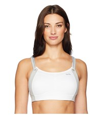Brooks Fiona Medium Impact Adjustable Sports Bra B Dd Moving Comfort White Sterling White Sterling