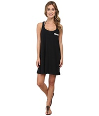 Lucky Brand Natural Connection Dress Cover Up Black Women's Swimwear