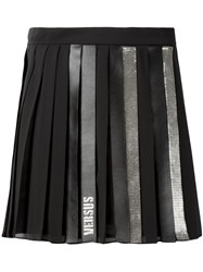 Versus Pleated Short Skirt Women Polyester 40 Black