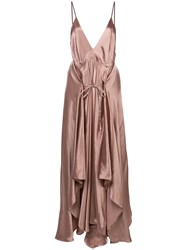 Ann Demeulemeester Ruched Satin Camisole Dress 60