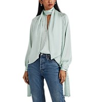 Juan Carlos Obando Washed Satin Blouse Mint