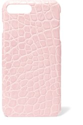 The Case Factory Croc Effect Leather Iphone 7 Plus Blush