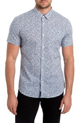 7 Diamonds Men's Eternal Bliss Print Woven Shirt Slate