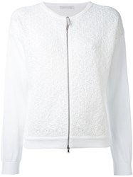 Fabiana Filippi Zip Up Cardigan Women Cotton 42 White
