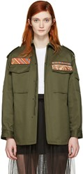 Valentino Green Military Cargo Jacket