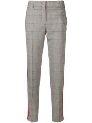 Paul Smith Ps By Checked Cropped Trousers Grey