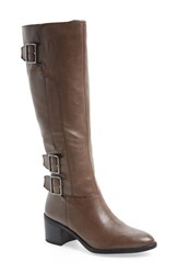 Women's Franco Sarto 'Elate' Tall Boot Grey Leather