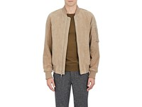 Rag And Bone Men's Manston Suede Bomber Jacket Tan